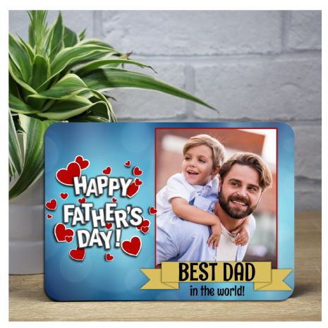 Personalised Happy Fathers Day Wood Photo Frame F10 - Perfect Gift Idea